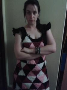 crocheted hand made dress