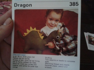 Felted toys - Dragon