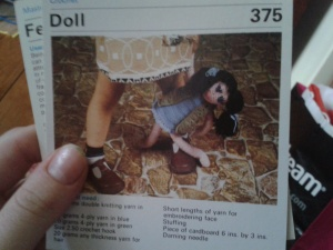Crocheted toy - Terrifying Dolly