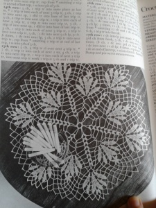 Doily with a cigarette garnish; apparently, that worked in 1972.
