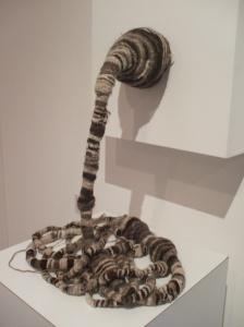 Gush, crocheted wool and creta fill, 2009