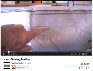 Repairing a leather couch tutorial