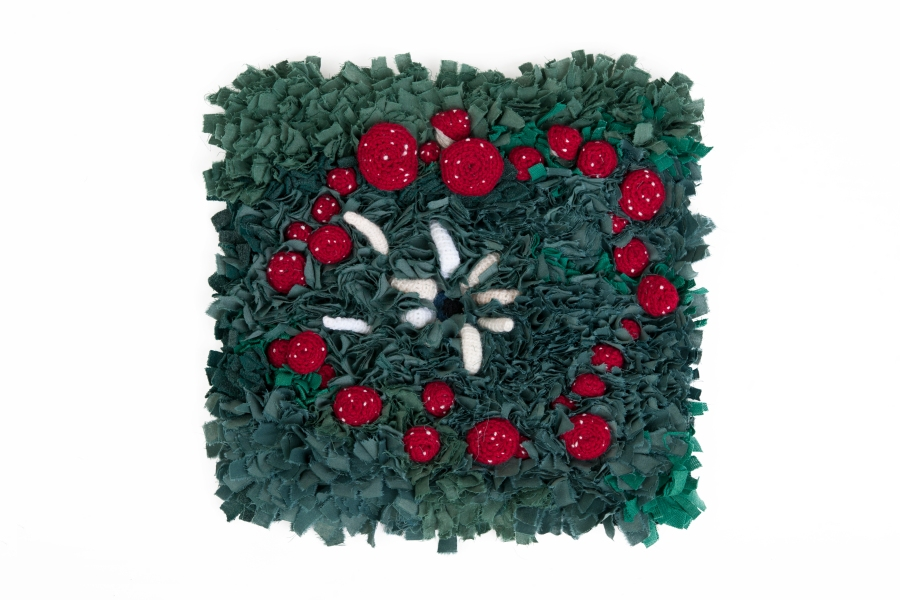 kelly-marie mcewan, fairy-ring rug and crochet sewing