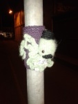 kelly-marie mcewan creative tanks 2013 octopus top hat moustache crochet sculpture