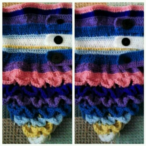 Crocheted Crocodile Stitch Alligator Stitch Pineapple Stitch