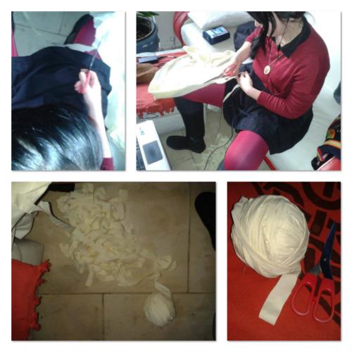tshirt material balls rugging crochet