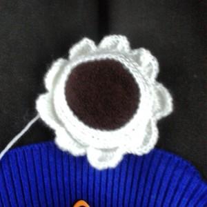 crochet earmuff work in progress