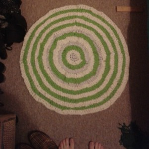 improved pattern crochet tshirt rug