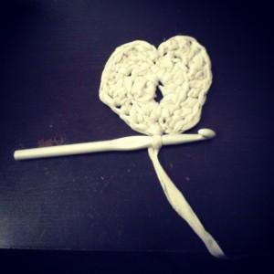 tshirt heart crochet rug