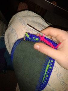 crocheting soles together WIP