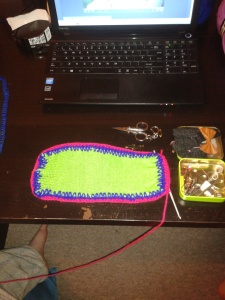 finished crocheting that first sole