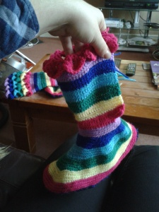 second shoe crocodile stitch calf crochet