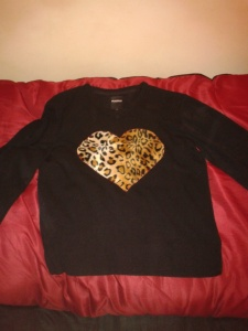 Leopard print jumper sweater sewing