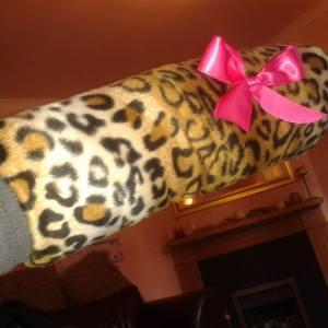 Leopard print faux fur muff tutorial