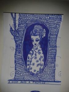 Floral print lindy bop woman