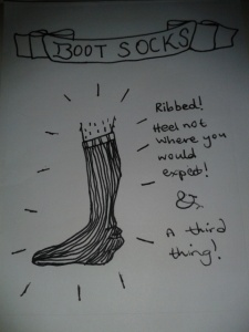Boot sock heel uneven comic