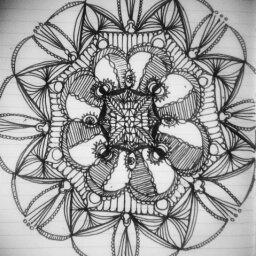 mandala sketch practice moleskine