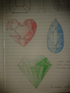heartcut pearcut prismcut diamond sketches