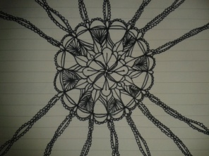 black ink mandala adrawingaday sketch project