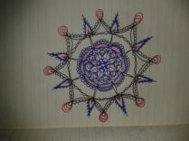 red blue black ink adrawingaday moleskine mandala