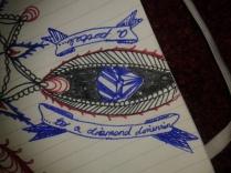 Mandala excerpt diamond dimension drawing
