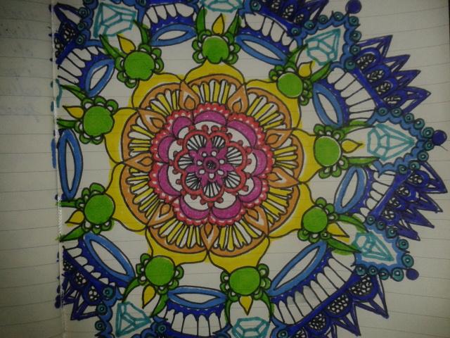 rainbow mandala ROYGBIV pattern drawing