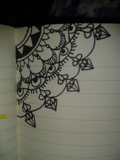 eyes diamonds mandala pattern relaxing a drawing a day