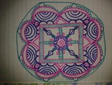 teal pink purple ink mandala moleskine