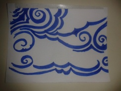 drawingaday project swirling cloud sticker