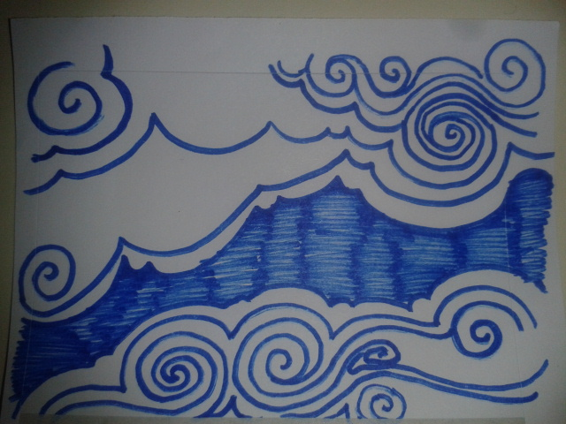 drawaday sketch project swirling cloud drawing