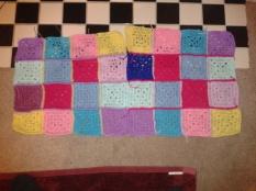 Elmer granny square pillowcase crocheted