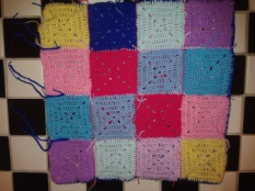 Sewn up pillowcase crochet granny square pattern