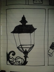 lantern drawingaday sketch project wrought iron