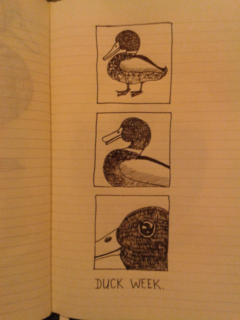 duck comic moleskine sketch adrawingaday project