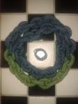 Chain link crochet multi colour necklace