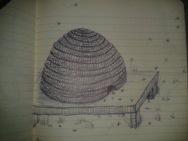 medieval bestiary bee adrawingaday project sketch