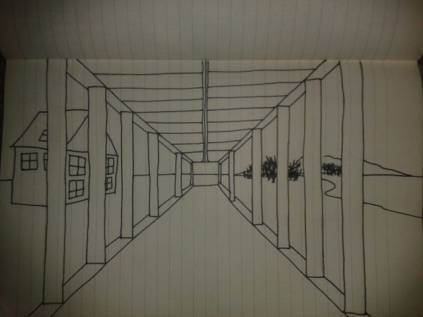 basic perspective adrawingaday exercise sketch
