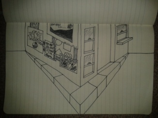 two point perspective drawing exercise adrawingaday