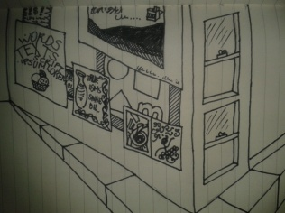 adrawingaday perspective sketch posters wall