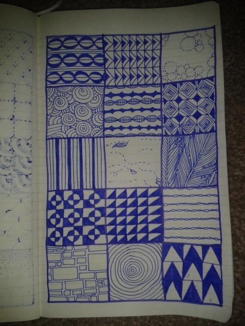 zentangle patterning art project practice