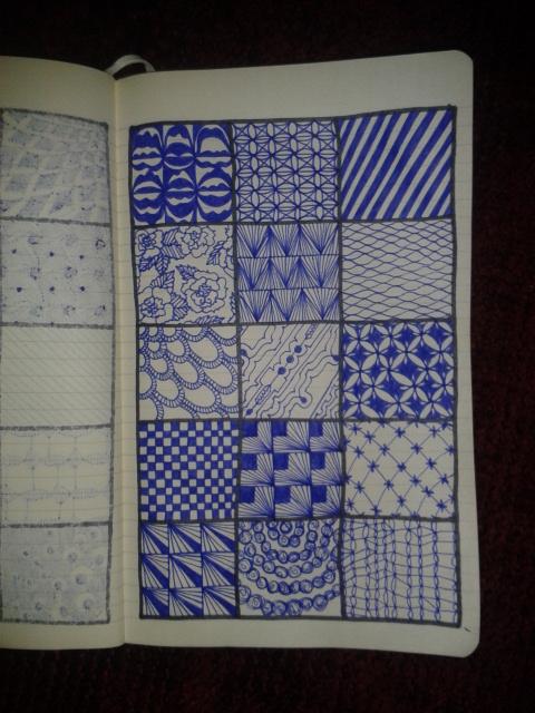 moleskine art project geometric zentangles