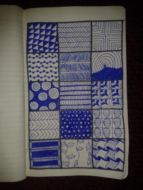 zentangle patterns moleskine adrawingaday sketch