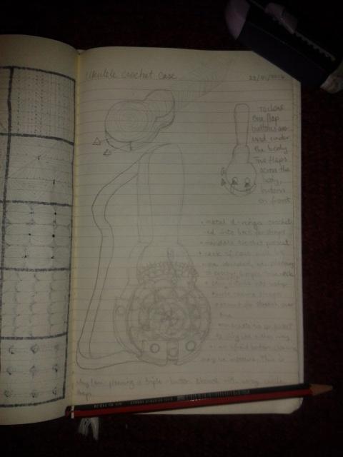 ukulele cover sketch design crochet