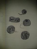 wool sk eins black ink drawing moleskine