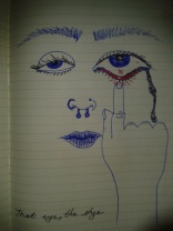 drawing stye sick eye sketch ink moleskine