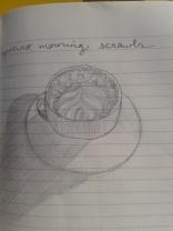 cappucino pencil sketch adrawingaday shadows moleskine