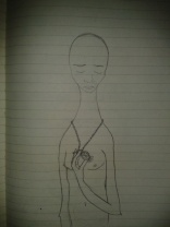 sadness drawing locket graphite sketch moleskine