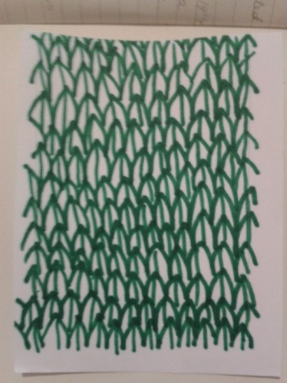 drawn green ink leaves sticker sketch