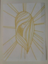 yellow texta ink hair halo sticker