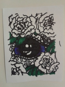 eye carnation sticker drawing artist project